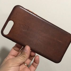 iPhone 7 Plus case natural leather